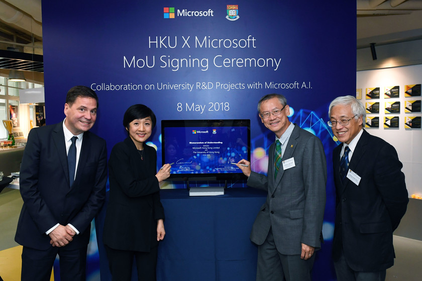HKU and Microsoft Hong Kong join hands to embrace Artificial Intelligence in multi-disciplinary research gallery photo 1