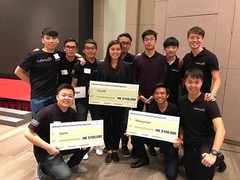 Representatives of 4 HKU winning teams